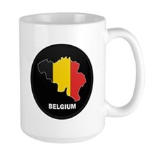 Flag Map of Belgium Mug