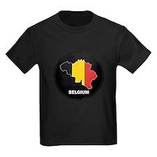 Flag Map of Belgium T