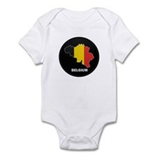 Flag Map of Belgium Infant Bodysuit