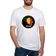 Flag Map of Belgium Shirt