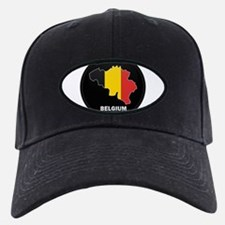 Flag Map of Belgium Baseball Hat