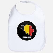 Flag Map of Belgium Bib