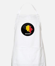 Flag Map of Belgium BBQ Apron