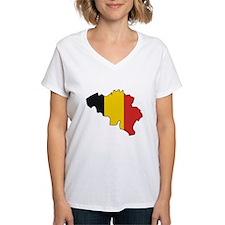 Belgium Flag Map Shirt