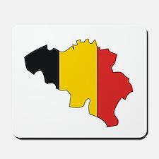 Belgium Flag Map Mousepad
