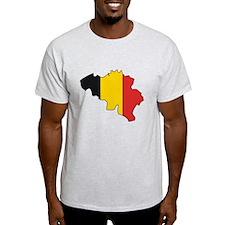 Belgium Flag Map T-Shirt