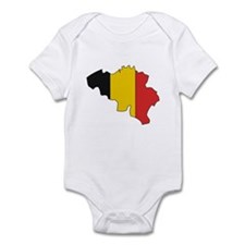 Belgium Flag Map Infant Bodysuit