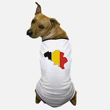 Belgium Flag Map Dog T-Shirt