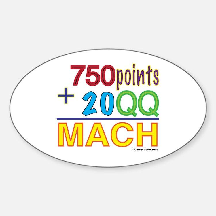 MACH formula Oval Decal