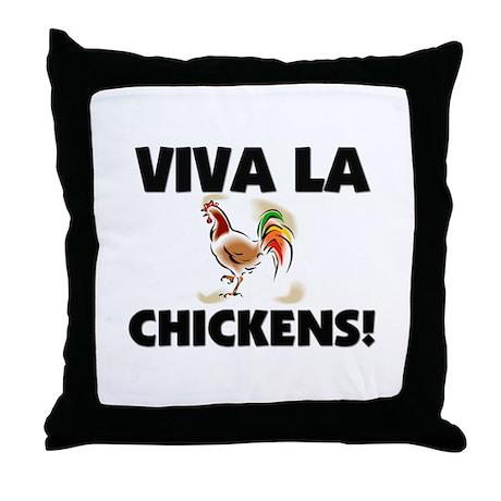 Viva La Chickens Throw Pillow