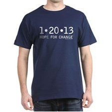 1-20-13 Hope for Change anti Obama T-Shirt