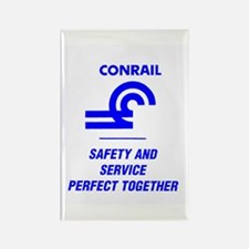 Conrail Safety & Service Rectangle Magnet