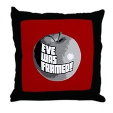 Eve Was Framed! Throw Pillow