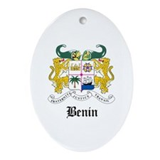 Beninese Coat of Arms Seal Oval Ornament