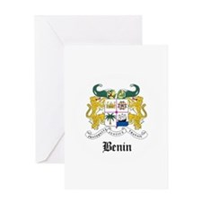Beninese Coat of Arms Seal Greeting Card