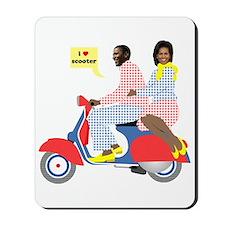 Obama Heart Vespa Mousepad