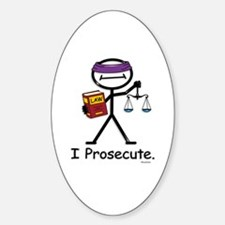 Prosecute Oval Decal