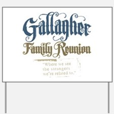 Gallagher Personalized Family Reunion Yard Sign