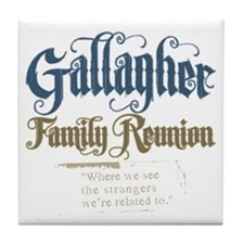 Gallagher Personalized Family Reunion Tile Coaster