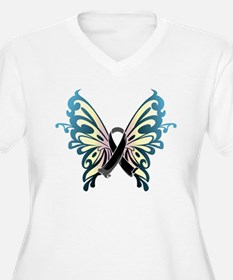 Skin Cancer Butterfly T-Shirt