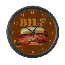 BILF Large Wall Clock
