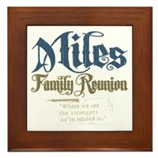 Miles Personalized Family Reunion Framed Tile