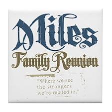 Miles Personalized Family Reunion Tile Coaster
