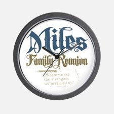 Miles Personalized Family Reunion Wall Clock