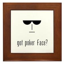 got poker face Framed Tile