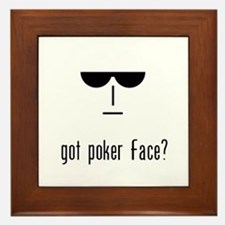 got poker face Framed Tile