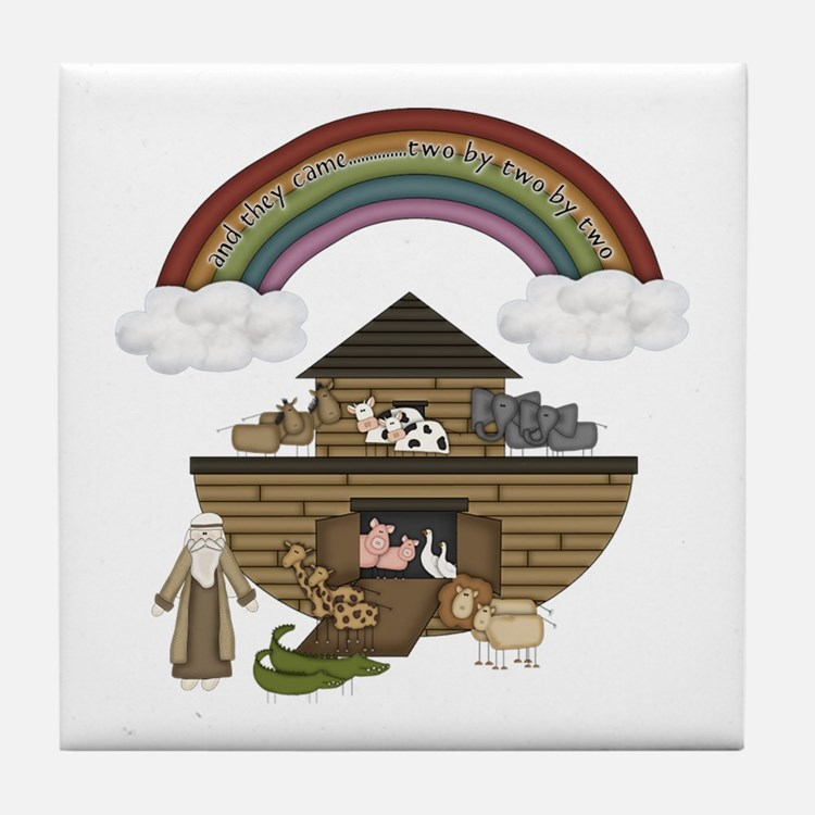 Noah's Ark Tile Coaster