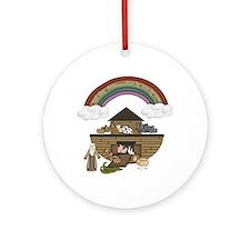 Noah's Ark Ornament (Round)