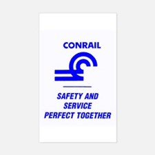 Conrail Safety & Service Rectangle Decal