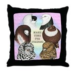 Make Time For Pigeons Throw Pillow