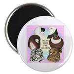 "Make Time For Pigeons 2.25"" Magnet (100 pack)"
