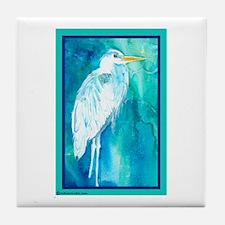 Heron Great Blue Tile Coaster