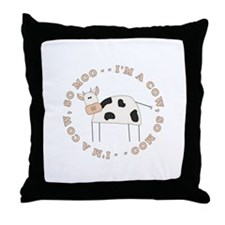 Cow Moo Throw Pillow
