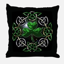 St. Patrick's Day Celtic Knot Throw Pillow