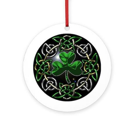 St. Patrick's Day Celtic Knot Ornament (Round)