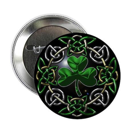 """St. Patrick's Day Celtic Knot 2.25"""" Button (100 pa"""