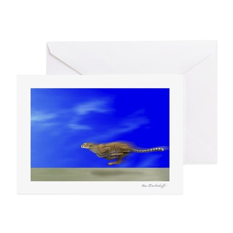 Speeding Cheetah~Greeting Cards (20 Pk) Blank