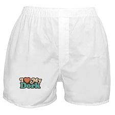 I Love My Dork Boxer Shorts