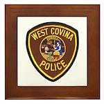 West Covina Police Framed Tile