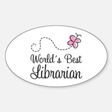 World's Best Librarian Oval Decal