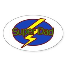 Super Dad - Oval Decal