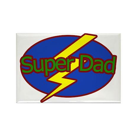 Super Dad - Rectangle Magnet