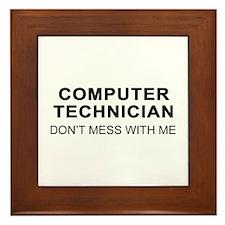 Computer Tech Framed Tile