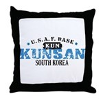 Kunsan Air Force Base Throw Pillow