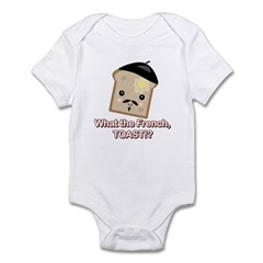 What the French Toast Kawaii Style Infant Bodysuit