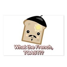 What the French Toast Kawaii Style Postcards (Pack
